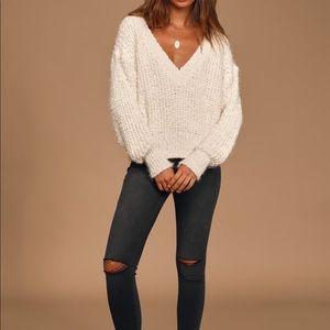 Lulu's Study Break Ivory Pullover Sweater